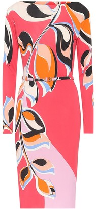Emilio Pucci Printed crApe dress