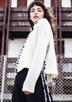 Tabula Rasa Mughal Lace Up Sweater Ivory