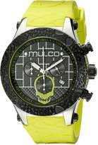 Mulco Men's MW5-2331-465 Couture Analog Display Swiss Quartz Yellow/ Watch