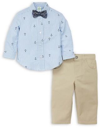 Little Me Baby Boy's 3-Piece Nautical Shirt, Tie Pant Set