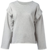 MM6 MAISON MARGIELA detachable sleeves sweatshirt - women - Cotton - M
