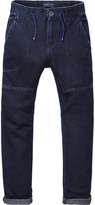 Scotch & Soda Cotton Trousers - Deep Dark | Loose Tapered Fit