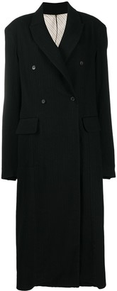 Masnada Pinstripe Wool Double-Breasted Coat