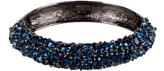 Kenneth Jay Lane Gunmetal Sapphire Crystal Bracelet