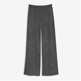 Joe Fresh Women's Wide Leg Sleep Pants, Dark Charcoal Mix (Size M)