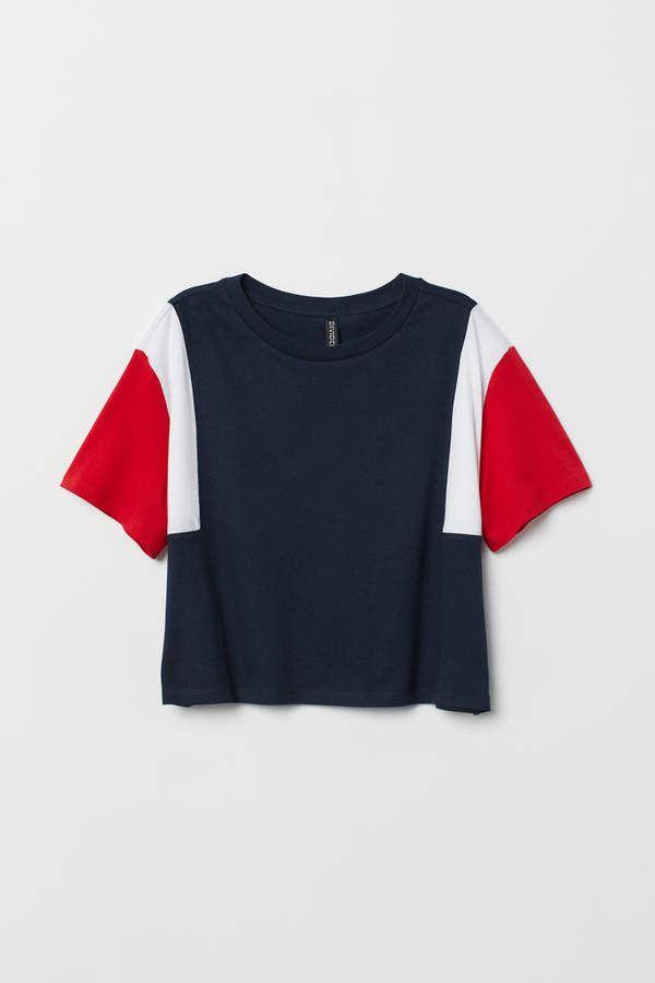 Color-block T-shirt - Blue