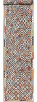 Bungalow Rose Helgeson Southwestern Handmade Kilim Runner 2'11'' x 15'9'' Wool Blue/Gray Area Rug