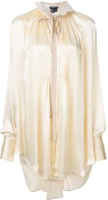 Ann Demeulemeester ruffled neck shirt