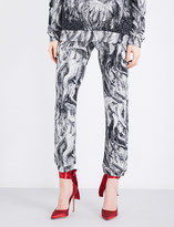 Christopher Kane Beauty and the Beast jacquard-cotton jogging bottoms