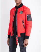 Philipp Plein Patch-detailed Quilted Bomber Jacket