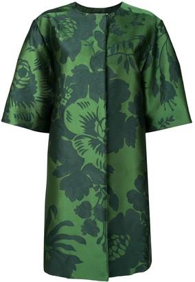 Carolina Herrera Floral Jacquard Coat