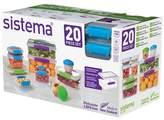 Sistema® Food Storage containers set - 20ct
