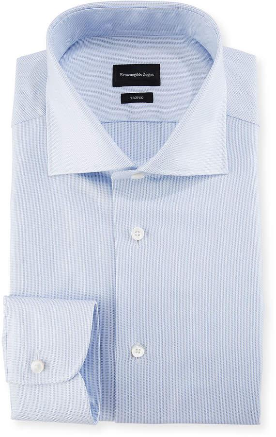 Ermenegildo Zegna Trofeo Pencil Stripe Cotton Dress Shirt