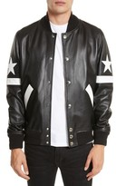 Givenchy Men's Leather Bomber Jacket