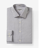 Express fitted stripe non-iron dress shirt