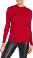 Joseph A Ribbed Mock Neck Sweater