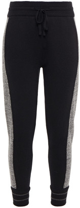 James Perse Merino Wool And Cashmere-blend And French Cotton-terry Track Pants