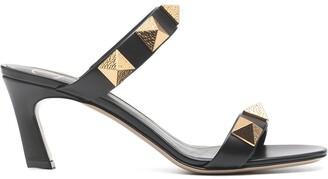 Valentino Roman Stud low-heel mules