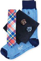Original Penguin Five-Piece Sock & Tie Box Set, Multi/Plaid