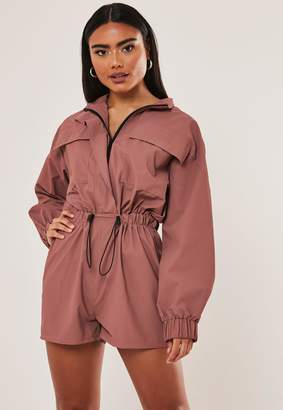 Missguided Clay Utility Drawstring Playsuit