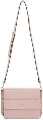 Valentino Pink Garavani Small Rockstud Shoulder Bag