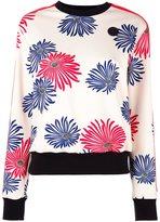 MSGM floral print sweatshirt - women - Elastodiene/Polyester - 44