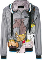 Dolce & Gabbana K-Way dog patch jacket