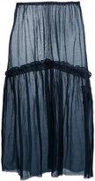 CITYSHOP frilled midi skirt - women - Silk/Cotton - One Size