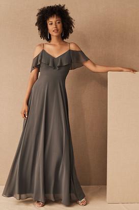 Jenny Yoo Mila Convertible Dress By in Grey Size 0