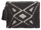 Sole Society Palisades Tasseled Woven Clutch