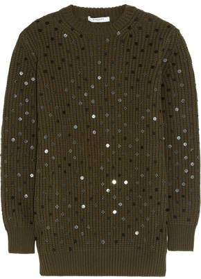 Givenchy Green Embroidered Wool Jumper