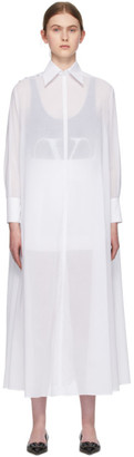 Valentino White Sheer Shirt Dress