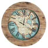 Pier 1 Imports Oversize World Map Wall Clock