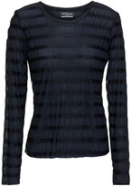 Thumbnail for your product : Lanston Striped Crinkled-jersey Top