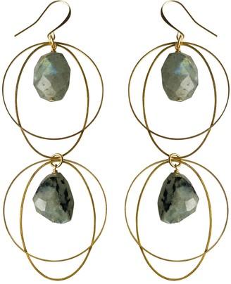 Tiana Jewel Spirit Of Heart Labradorite Gemstone Earrings