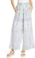 Mii La Pergola Wide Leg Cotton & Linen Pants