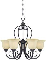 Westinghouse Callan 5-Light Oil Rubbed Bronze Chandelier