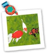 3dRose LLC qs_15298_3 CherylsArt Animals Wild Fish - Koi Fish School Meeting - Quilt Squares