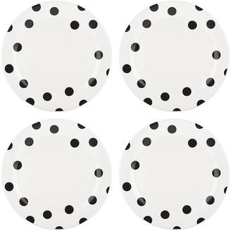 Kate Spade Deco Dot Dinner Plates, Set Of Four