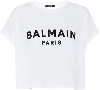 Balmain Logo cotton-jersey T-shirt