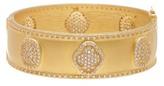 Freida Rothman 14K Gold Plated Sterling Silver Metropolitan Wide Hinged Bangle