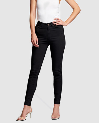 RES Denim Women's Black High-Waisted - Harrys Hi Skinny Jeans - Size One Size, 24 at The Iconic