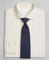 Brooks Brothers Golden Fleece Milano Slim-Fit Dress Shirt, English Collar Dobby Alternating Triple-Stripe