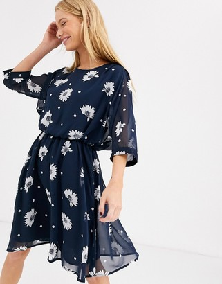 Selected shift dress-Navy