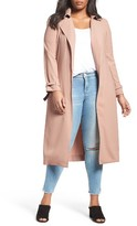 Plus Size Women's Elvi Belted Long Trench Coat