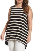 Vince Camuto Plus Size Women's Stripe Tunic