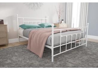 DHP Manila Metal Bed, White, Full