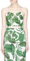 Alice + Olivia 'Archer' palm leaf print cropped camisole top