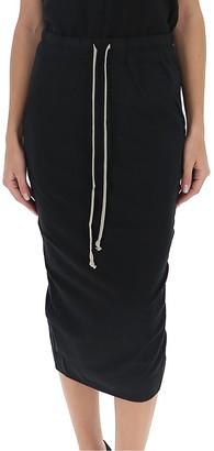Rick Owens Drawstring Midi Skirt