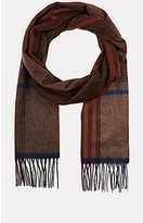 Colombo MEN'S PLAID CASHMERE FLANNEL SCARF